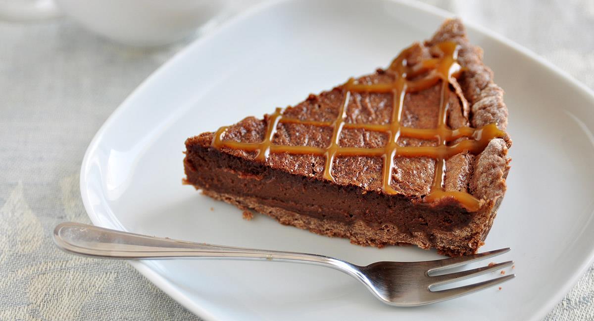 Pudín de chocolate con caramelo