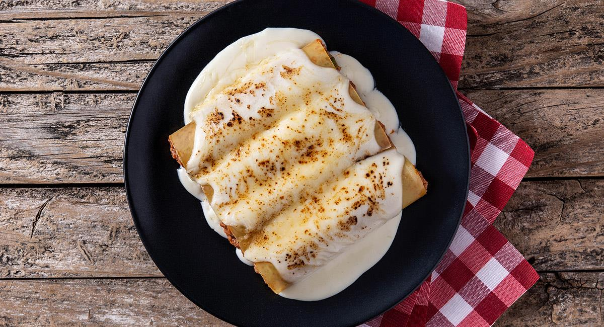 Canelones a los cuatro quesos