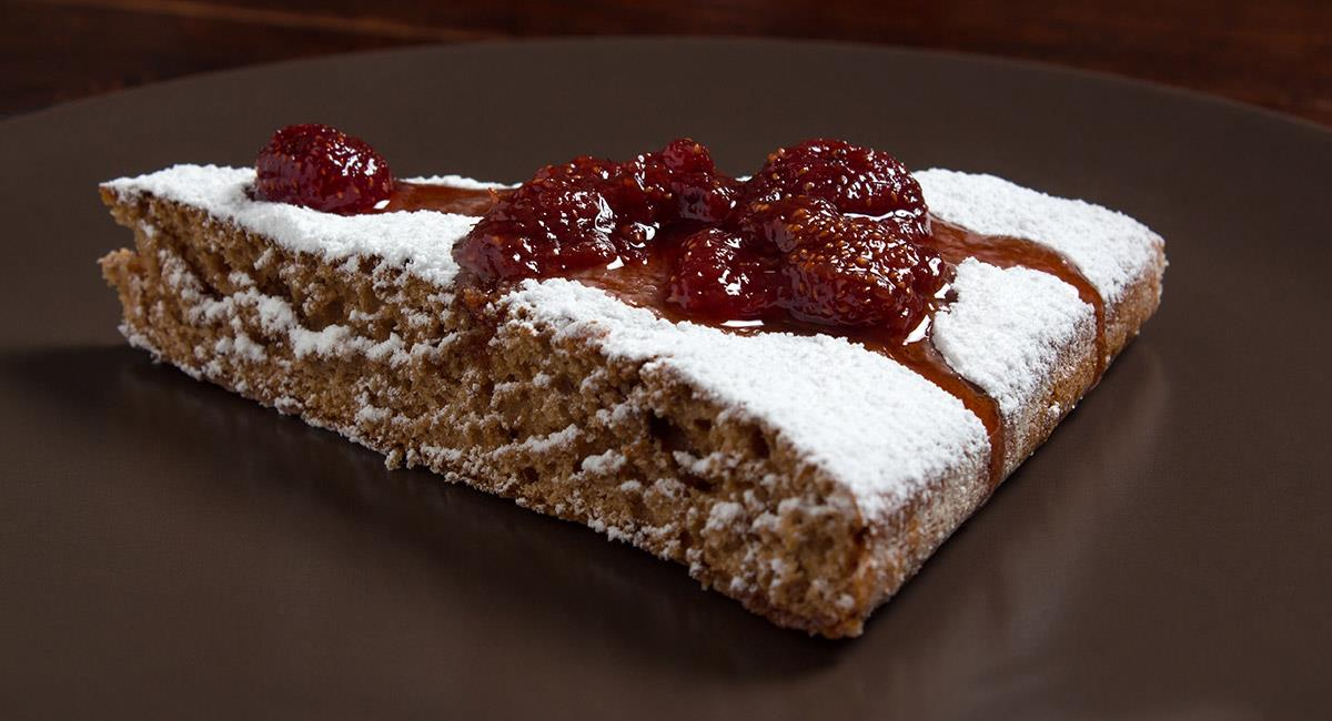 Cheesecake con salsa mermelada