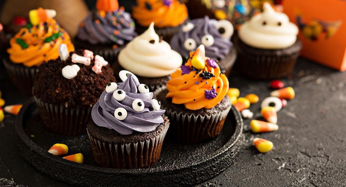 Cupcakes terroríficos de chocolate