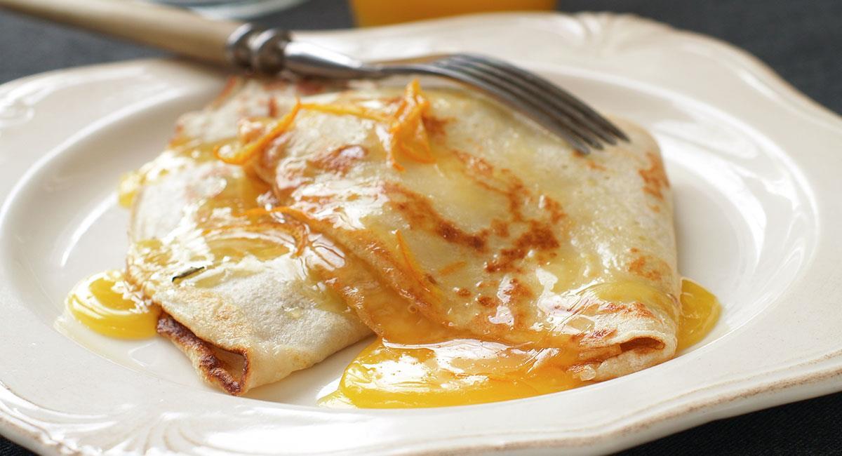 Crepes de mantequilla de naranja