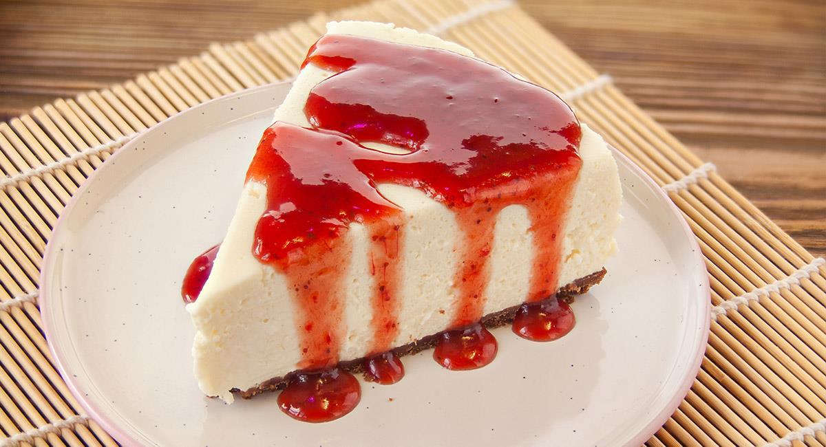Tarta de queso con mermelada