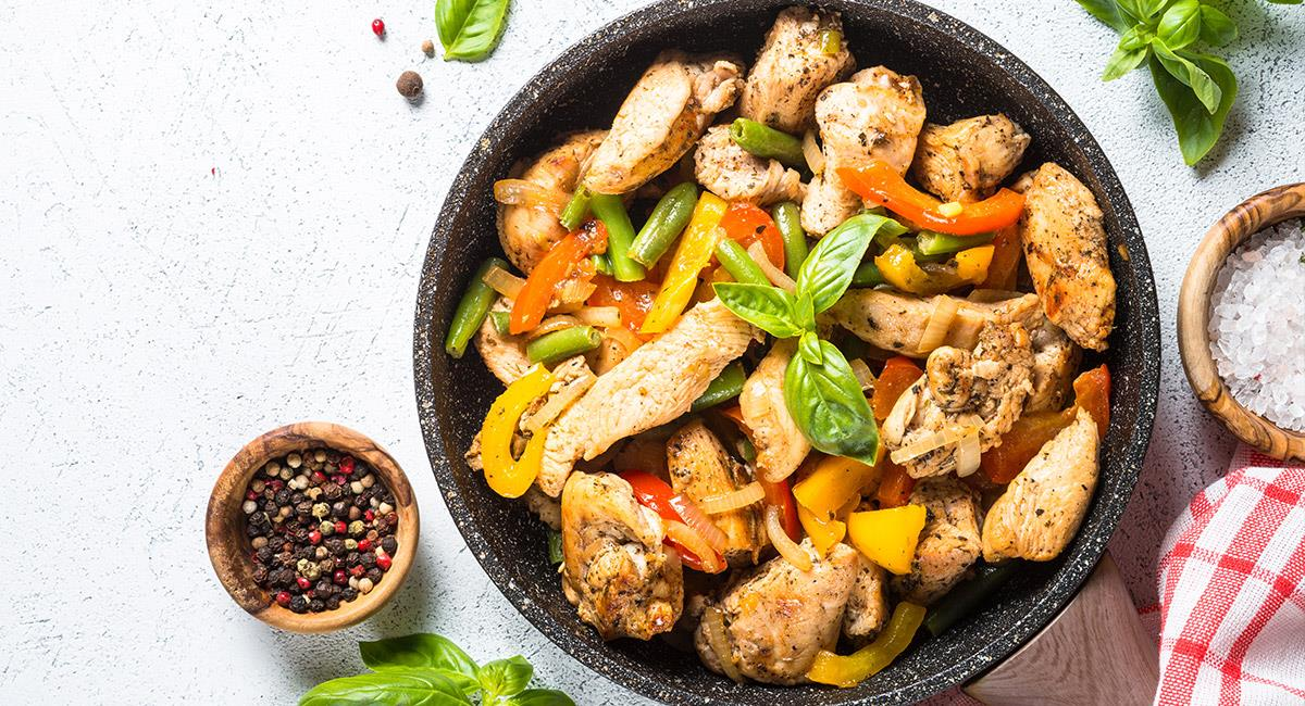Pollo con vegetales