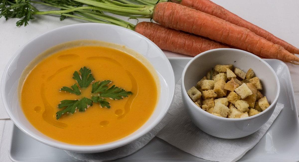 Crema de zanahoria con jengibre