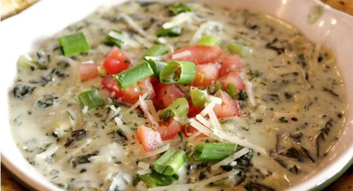 Dip gratinado de espinaca y alcachofa