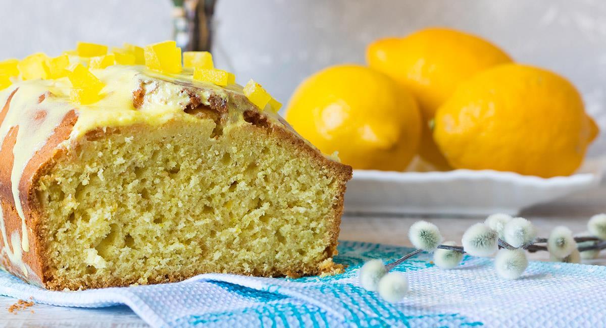 Queque de saúco y limón