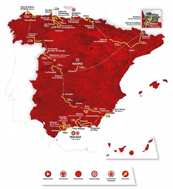 Vuelta a España Recorrido