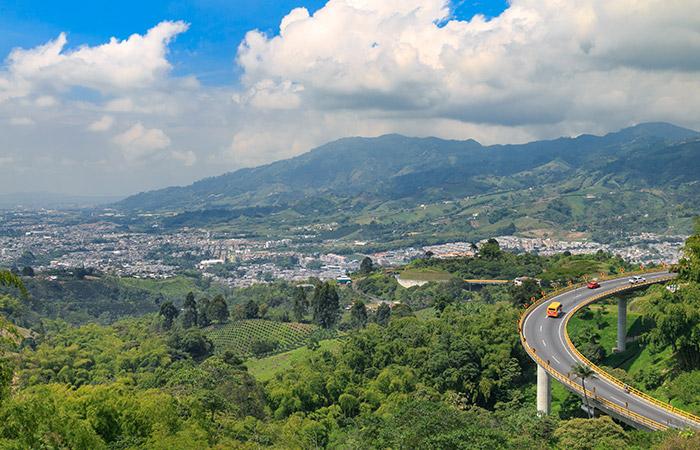 Paisaje de Manizales Colombia
