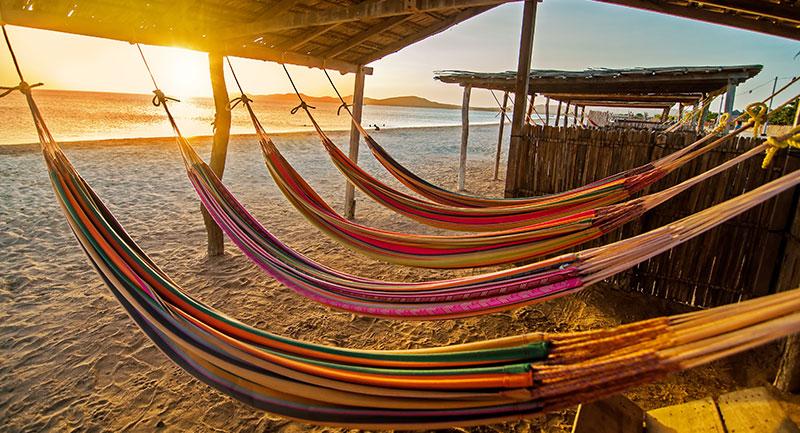 Hamacas en la Playa de la Guajira - Foto: shutterstock