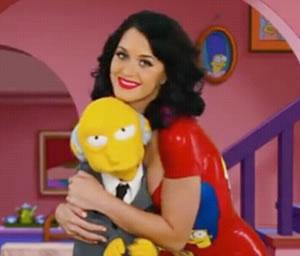 Los Simpson celebran la Navidad con Katy Perry