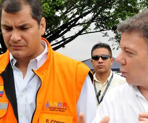 Correa dice que Ecuador siente 'como propia' la tragedia en Colombia