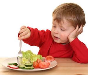 Deje al niño elegir las verduras que se comerá