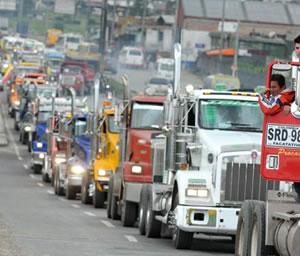 Mintransporte no se reunirá con transportadores, mientras mantengan bloqueos