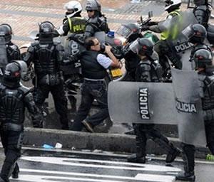 Anuncian bloqueo nacional si la policía utiliza la fuerza
