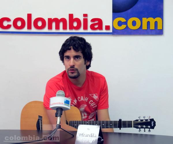 """Efrardila presenta su tema """"Vacaciones al amor"""" en Colombia.com"""