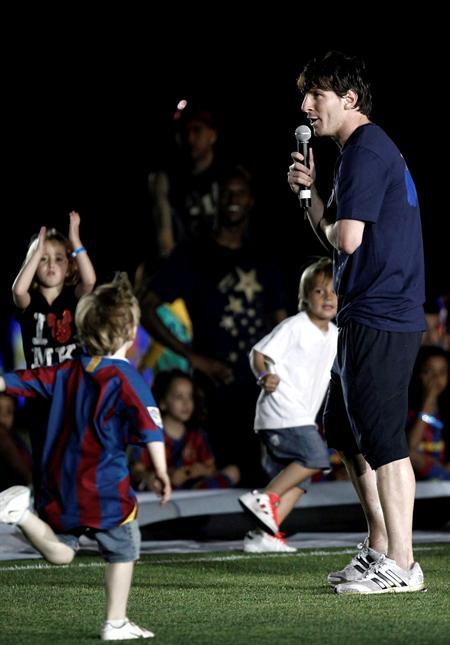 La celebración de Barcelona se concentró en Messi