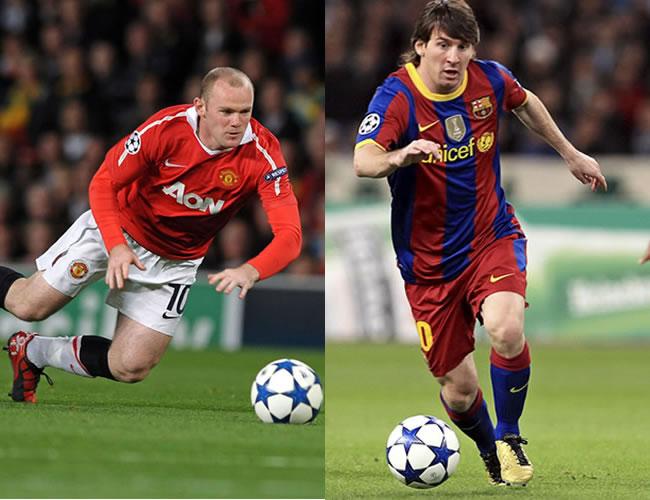 Wayne Rooney y Lionel Messi, estarán en el juego de la final en Wembley/EFE