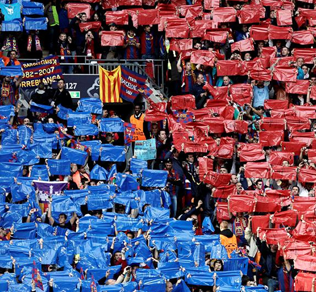 La tribuna del lindo estadio de Wembley. EFE