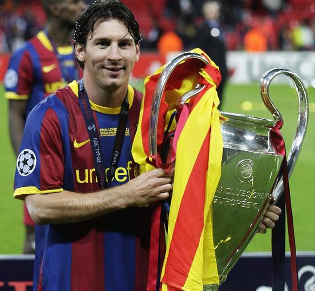 Lionel Messi autor del segundo gol del partido. EFE