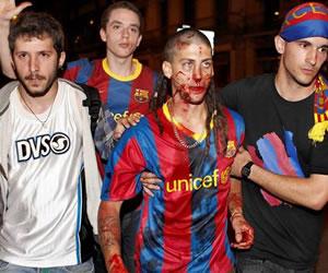 Los altercados tras la victoria del Barça provocan 132 heridos en Barcelona