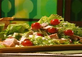 Ensalada de pollo y jamón