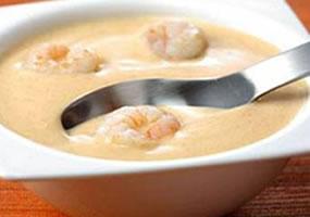 Crema de langosta, camarones o langostinos