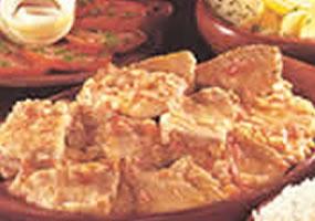 Pescado en salsa de naranja agria