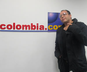 El cantante colombiano Villalba visitó Colombia.com