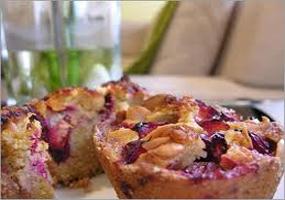 Muffins de ciruela y canela