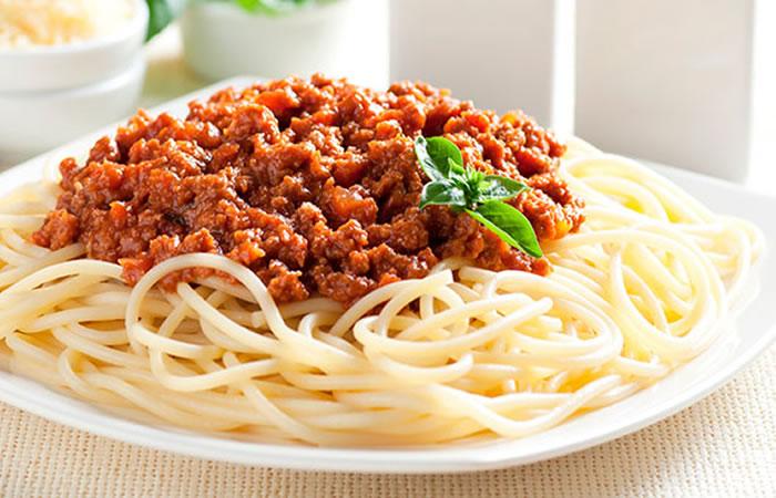 Espaguetis A La Boloñesa Pastas Receta Internacional