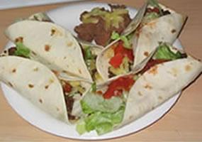 Tacos de bistec de carne de res