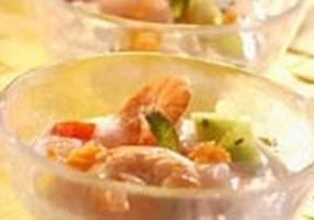 Ceviche de pescado a la tahitiana