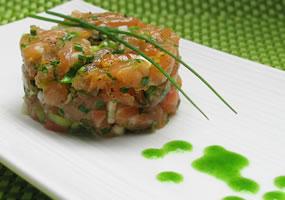 Tartare de salmón