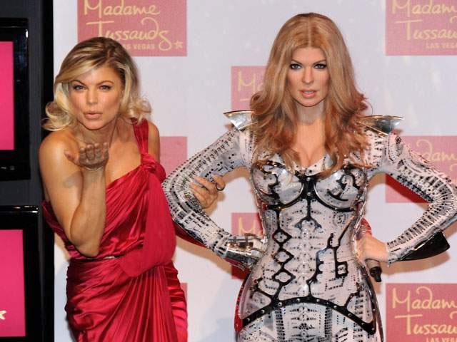 Fergie presentó su propia estatua de cera