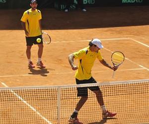 Robert Frah y Juan Sebastián Cabal en Copa Davis. EFE
