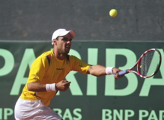 Alejandro Falla en Copa Davis. Foto: EFE