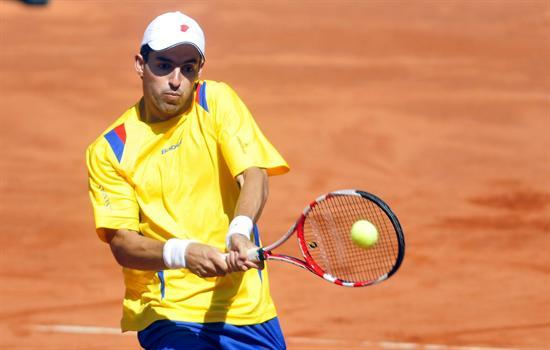 Santiago Giraldo en Copa Davis. Foto: EFE