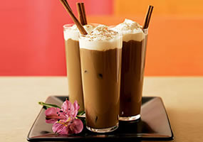 Café helado sorpresa