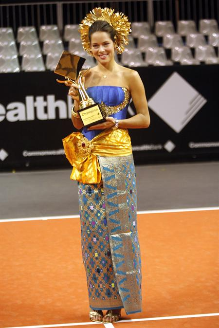 Ana Ivanovic, ganadora del torneo de Balí. Foto: EFE