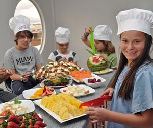 Curso de vacaciones para niños para aprender a comer verduras
