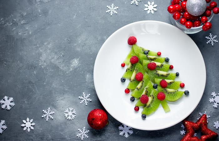 Árbol de navidad de frutas