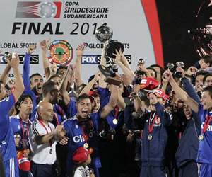 Liga Universitaria de Chile, campeón de la Copa Sudamericana 2011. EFE