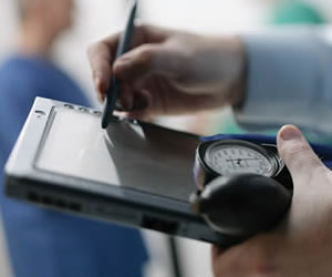Tecnología iPad para las visitas médicas