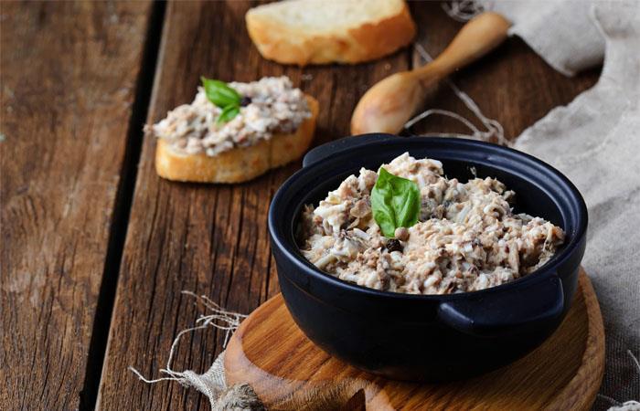 Paté de cebolla y atún