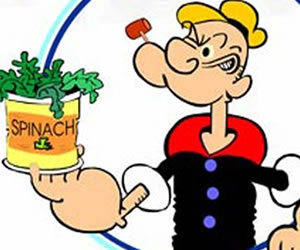 Popeye tiene razón, comer espinacas nos hace más fuertes