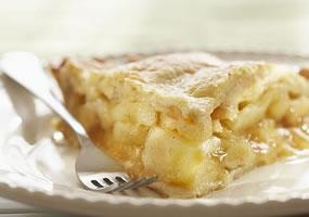 Pastel de manzana y coco