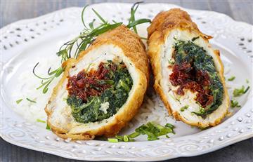 Rollitos de pollo y espinaca