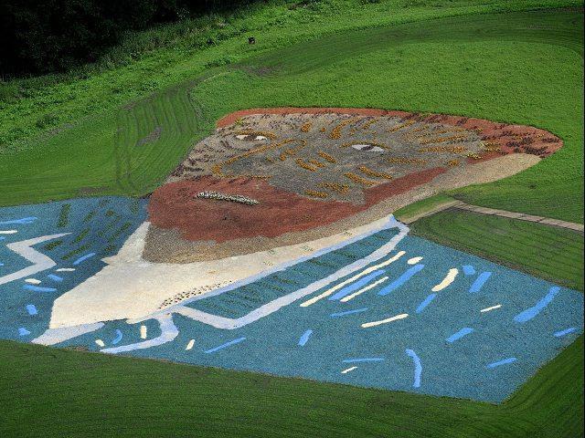 Retrato gigante del pintor Vincent van Gogh