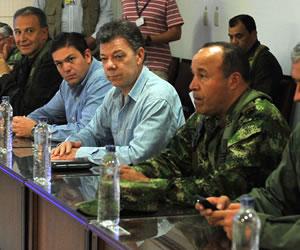 Presidente Santos encabeza consejo de seguridad en Arauca