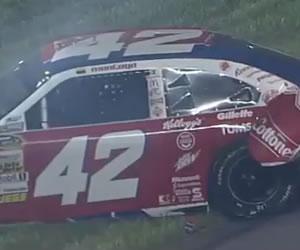 Montoya volvió a chocar en Daytona y quedó fuera de carrera
